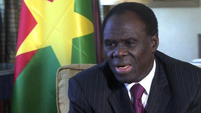 Burkina Faso's interim president Michel Kafando