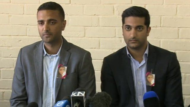 Anish Hindocha speaks at a press conference