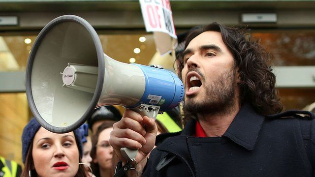 The comic actor and campaigner Russell Brand