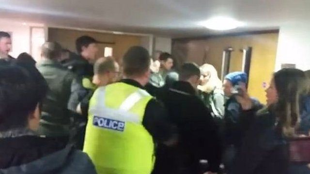 The clashes were caught on camera by sociology student Craig McVey