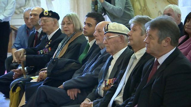 Some of the veterans at the medal ceremony