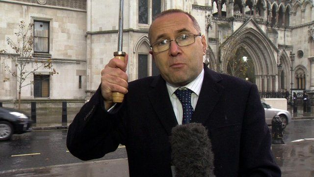 Clive Coleman outside the Court of Appeal