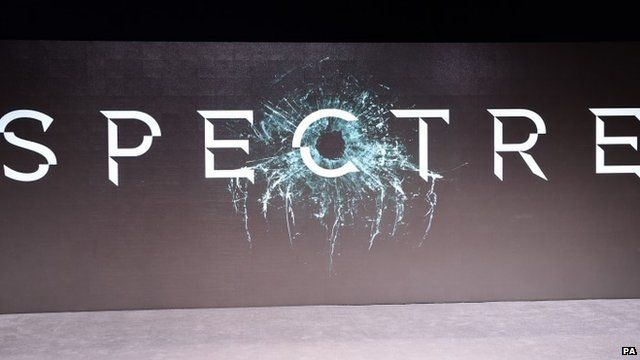 Screen showing film title 'Spectre'