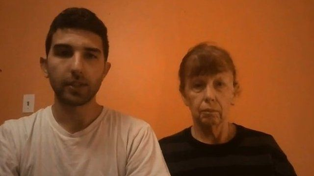 Jordan and Paula Somers in a video appealing for the release of US hostage Luke Somers