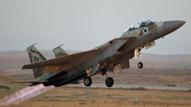 An Israeli fighter jet. File photo