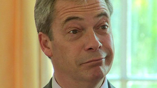 Nigel Farage in interview for Sunday Politics Wales