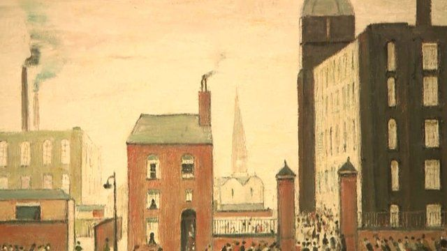 A painting by LS Lowry