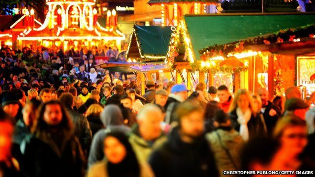 Crowds at the German Market