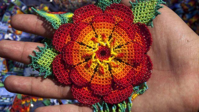 Huichol Indian handicraft