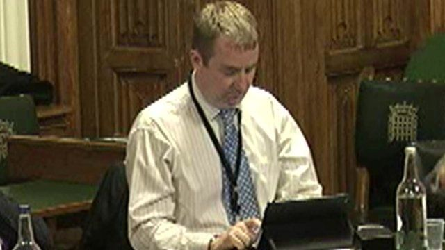Nigel Mills is filmed at the Work and Pensions Committee