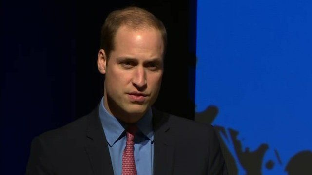 Prince William giving speech