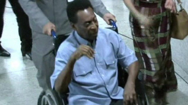 Pele leaving hospital