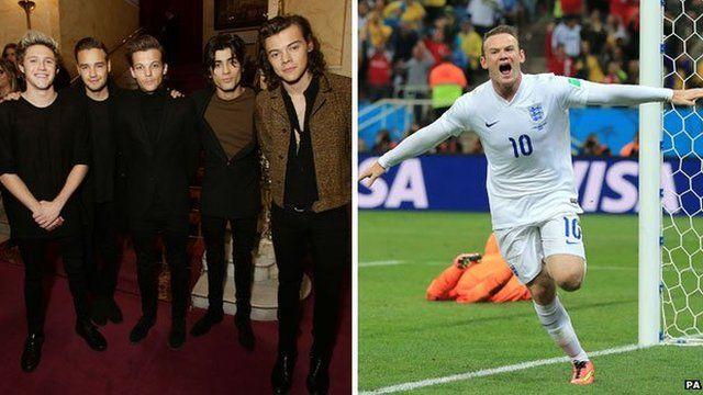 One Direction, Wayne Rooney