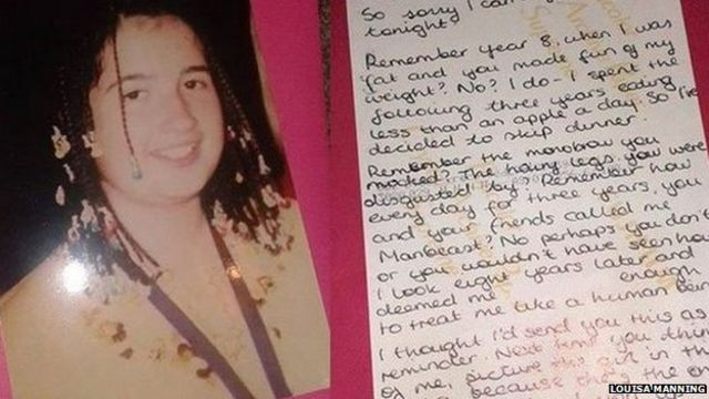 'Manbeast' letter to former bully 'crazy' Facebook hit