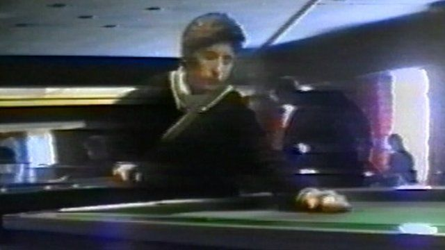 Claire Tiltman playing pool