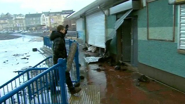 BBC Correspondent Chris Buckler reports from Portstewart