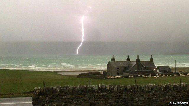 Lightening strikes in the Highlands