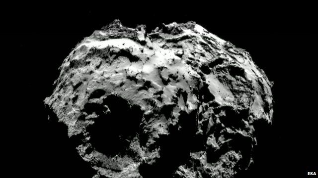 Comet 67P photographed from Rosetta