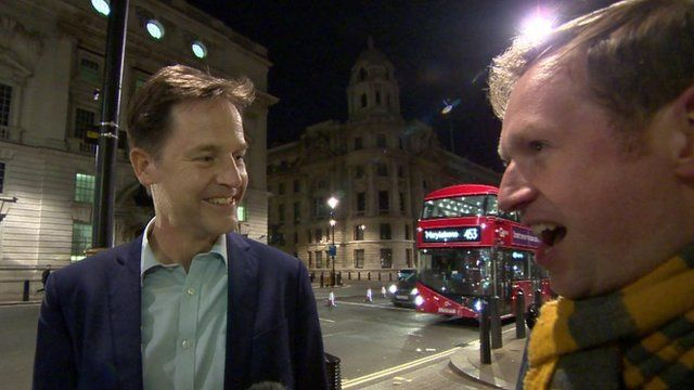 Nick Clegg and Adam Fleming