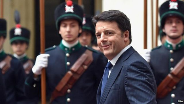 Italy's PM Matteo Renzi in fight against job barriers