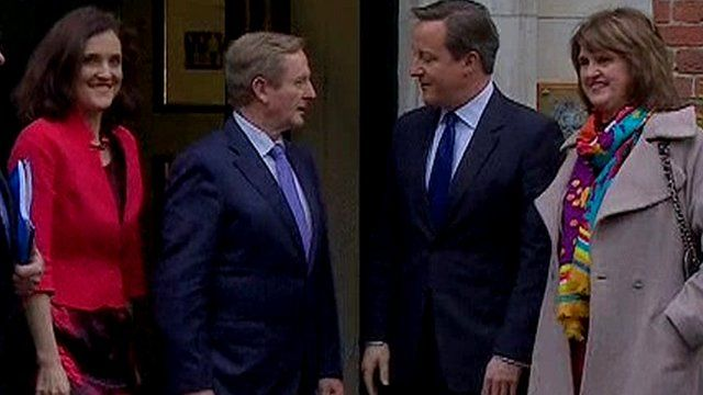 David Cameron and Enda Kenny gave brief statements before entering the talks