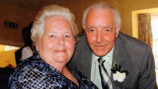 Bertie Acheson, who was the main carer for his disabled wife Sheila, died from a heart attack after struggling with a burglar who had previously carried out work in the couple's home