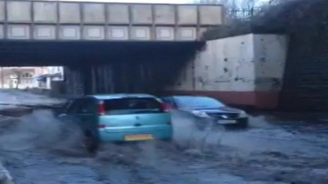 Flooding in Splott, Cardiff
