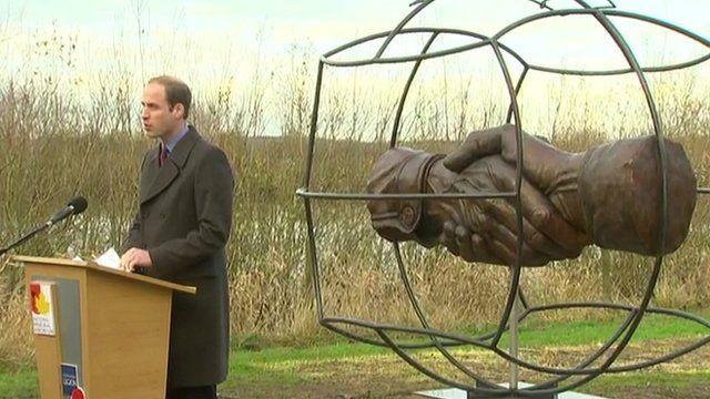 Duke of Cambridge at memorial