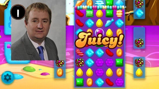 Nigel Mills and Candy Crush graphic