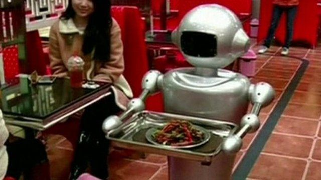 Robot in restaurant