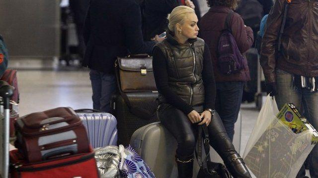 Passenger waits on baggage at Heathrow