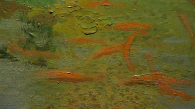 Goldfish painted by Sir Winston Churchill