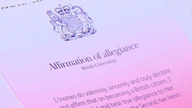 Affirmation of allegiance document