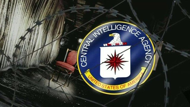 Graphic showing CIA logo