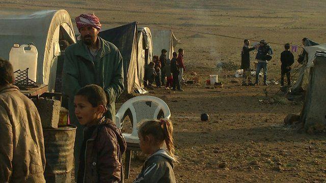 Yazidi camp