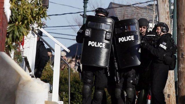 Police SWAT team officers
