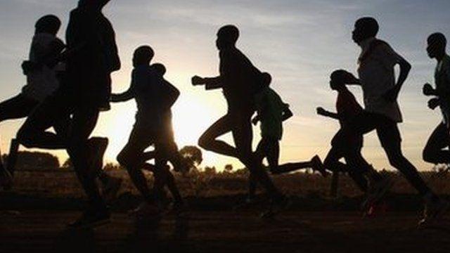 Unidentified runners in Kenya