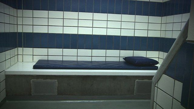 Bed in police cell