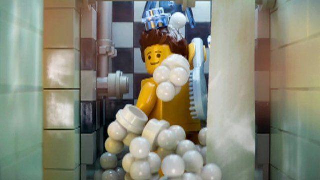 A scene in The Lego Movie