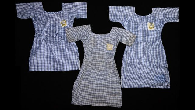 Uniforms belonging to three of more than 200 schoolgirls kidnapped by Boko Haram in April from the town of Chibok, Nigeria