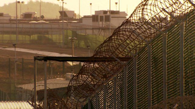 View of Guantanamo Bay prison