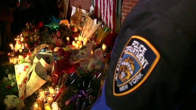 NYPD flower vigil