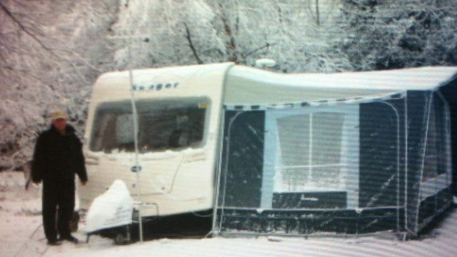 Snowy Christmas camping