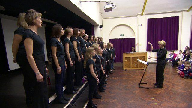 Military wives choir in Kingston