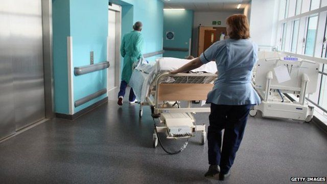 Generic image of staff in a hospital
