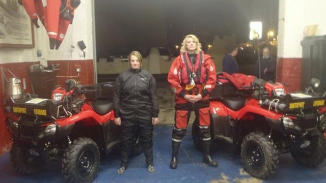 Volunteers with the quad bikes before the burglary