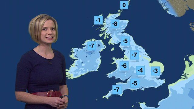 Sarah Keith-Lucas and UK weather map