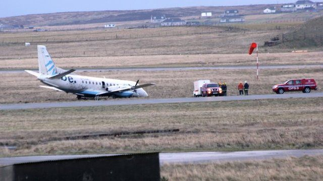 Plane at Stornoway Airport
