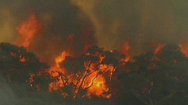 Bushfire in southern Australia