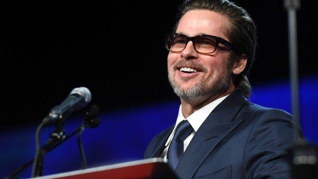 Actor Brad Pitt speaks onstage during the 26th Annual Palm Springs International Film Festival Film Festival Awards